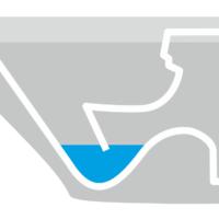 Grafik mit Flachspültechnik